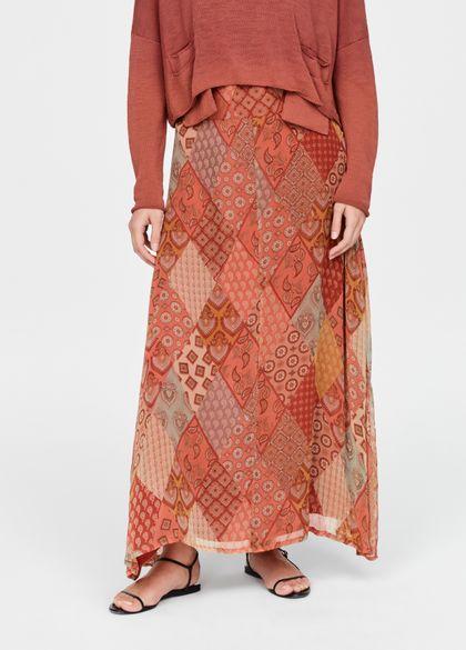 Sarah Pacini Uitlopende rok - patchwork
