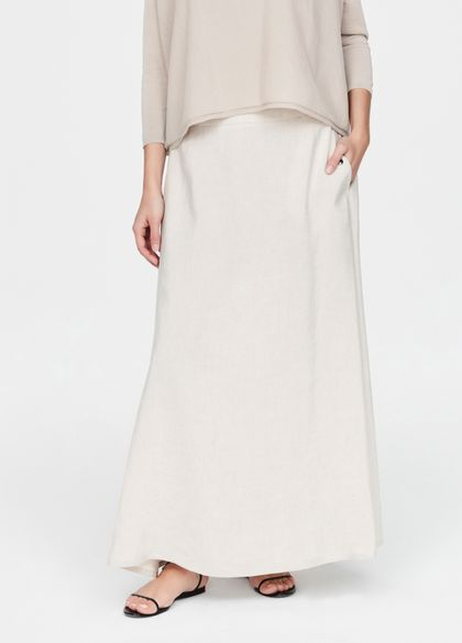 Sarah Pacini Linen skirt - smock details