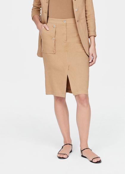 Sarah Pacini Linen pencil skirt