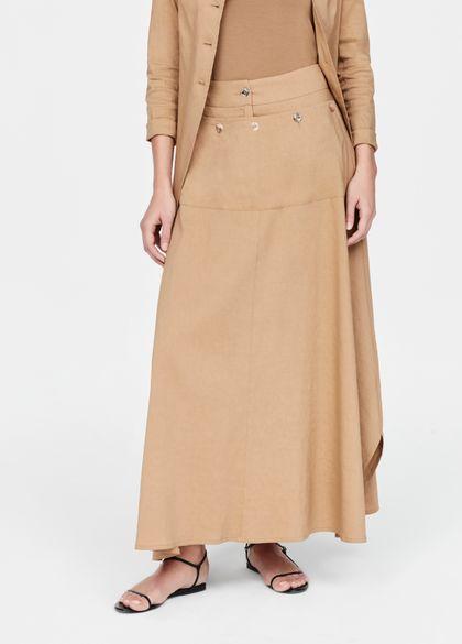 Sarah Pacini Linen flare skirt