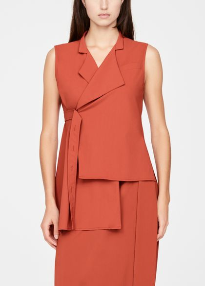 Sarah Pacini Sleeveless jacket - asymmetric