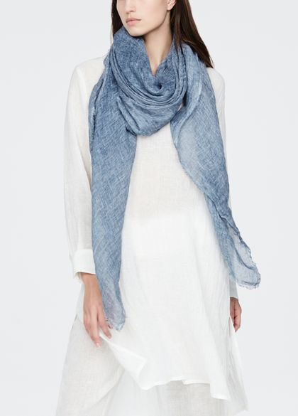 Sarah Pacini Linen scarf - crinkled