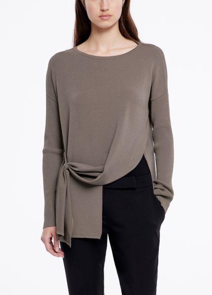Sarah Pacini Streetwear-pullover - asymmetrisch