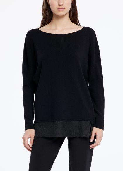 Sarah Pacini Langer pullover - mit transparenten einsätzen