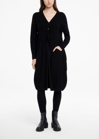 Sarah Pacini Long cardigan - bords froncés
