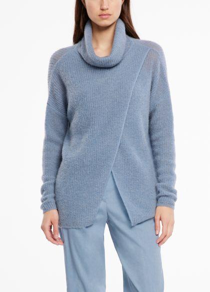 Sarah Pacini Crossover-pullover - trichterkragen