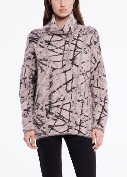Sarah Pacini Weicher pullover - überkreuzende linien