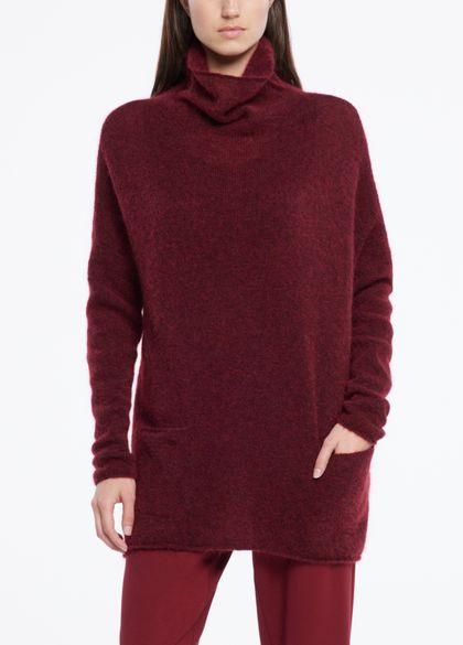 Sarah Pacini Mohair-merino-sweater- lange ärmel