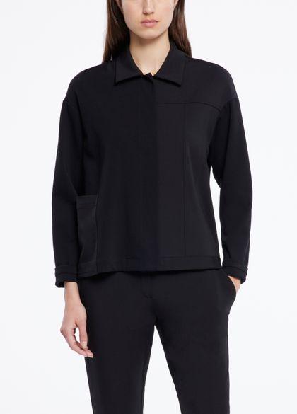 Sarah Pacini Jersey jacket - gabardine details