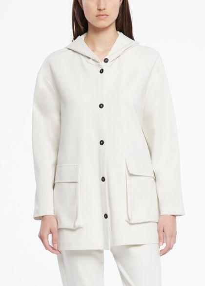 Sarah Pacini Car coat aus jersey