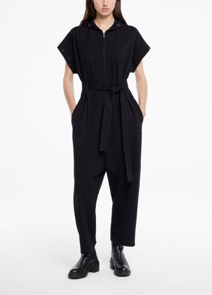Sarah Pacini Jumpsuit aus jersey - kapuzenpulli