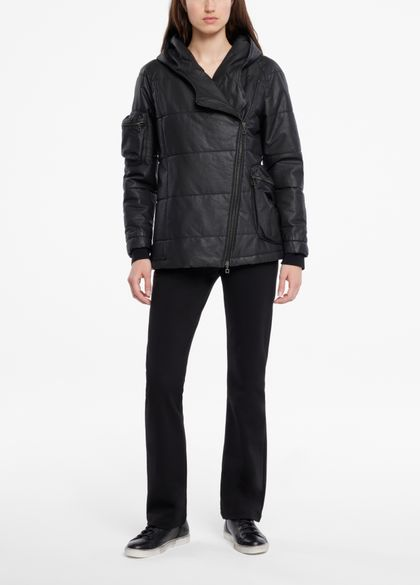 Sarah Pacini Coat - asymmetric zip
