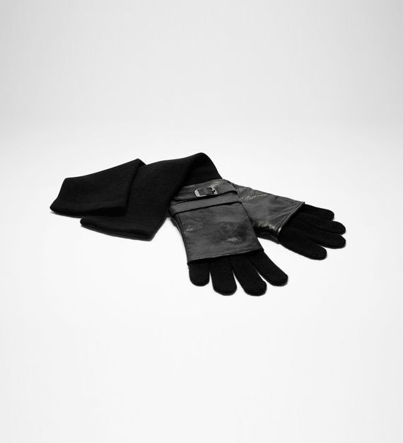 Sarah Pacini LONG GLOVES - LEATHER AND WOOL