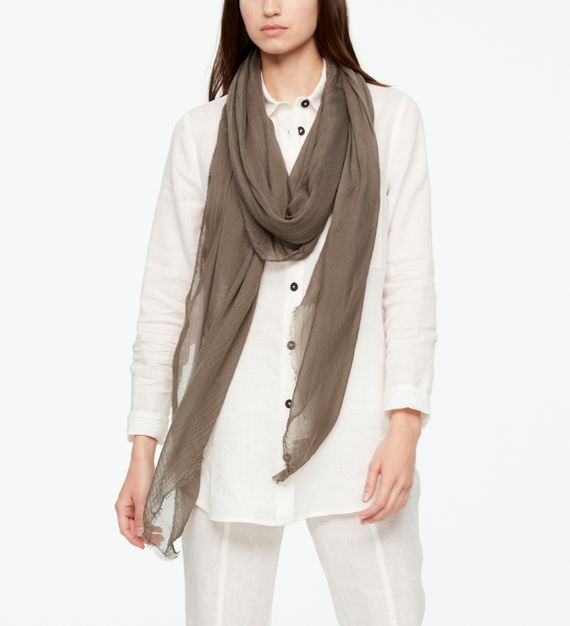 Sarah Pacini SHAWL SCARF - FRAYED EDGES