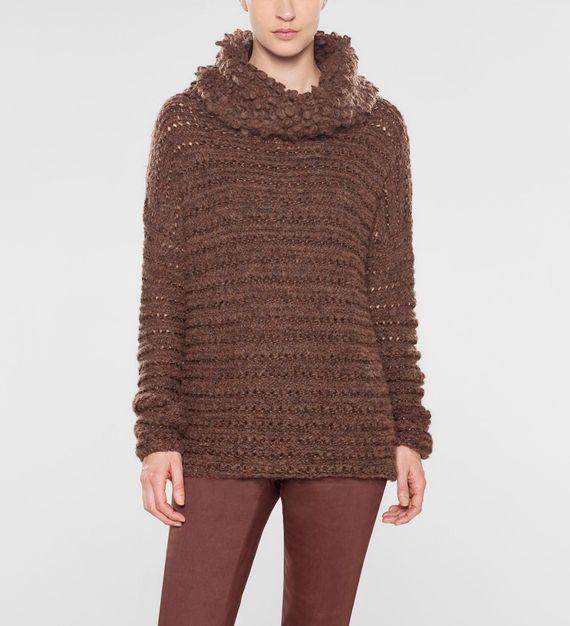 Sarah Pacini Langer sweater mit trichterkragen
