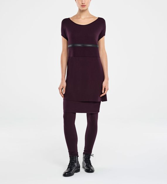 Sarah Pacini SLEEVELESS DRESS - ZIPPED PANEL