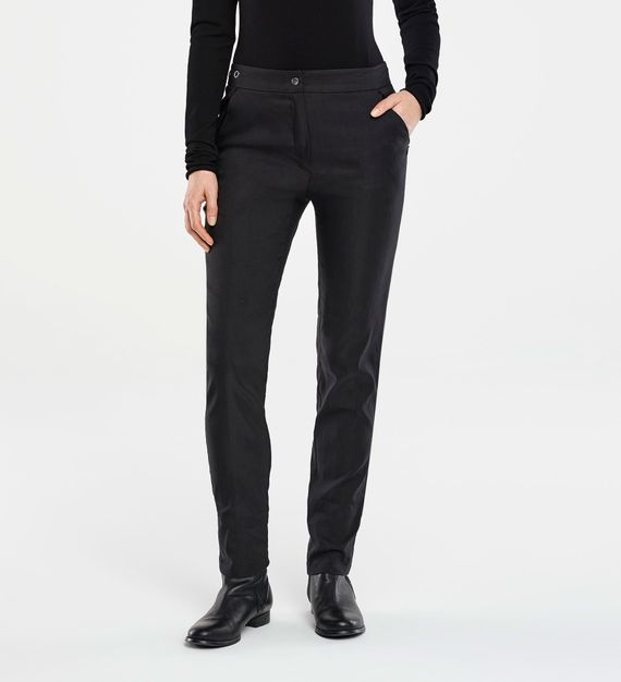 Sarah Pacini STRETCH LINEN PANTS