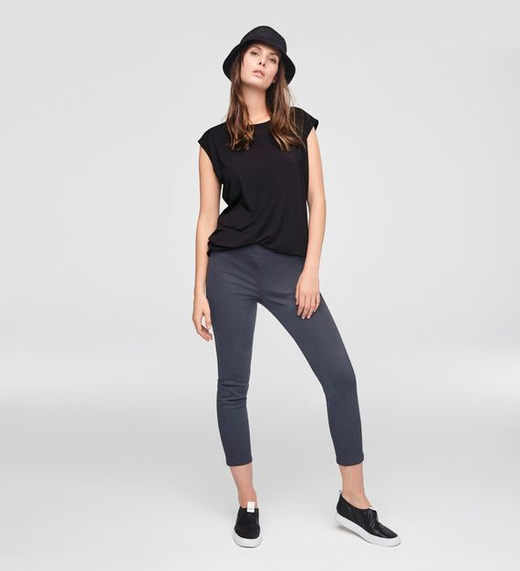 Sarah Pacini STRETCH COTTON CROPPED LEGGINGS