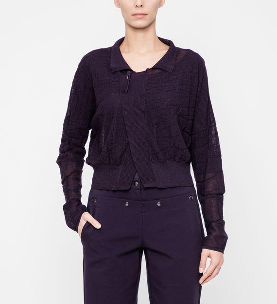 Sarah Pacini Cropped cardigan - honeycomb