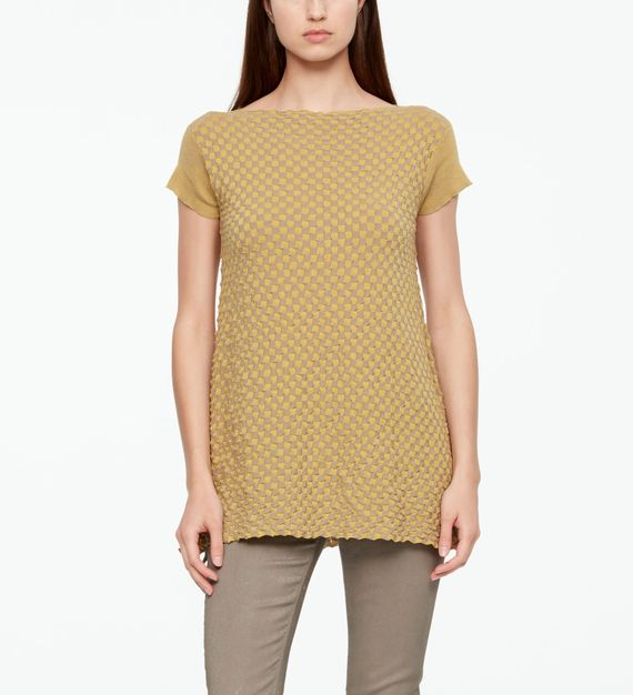 Sarah Pacini PULLOVER - MAKO COTTON IN SCHACHBRETT OPTIK