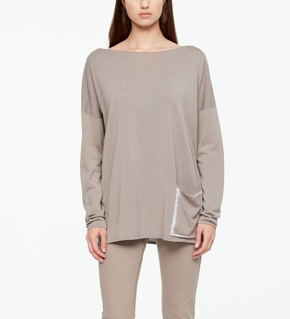 Sarah Pacini SWEATER - GRAPHIC POCKET