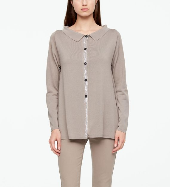 Sarah Pacini CARDIGAN - GRAPHIC DETAIL