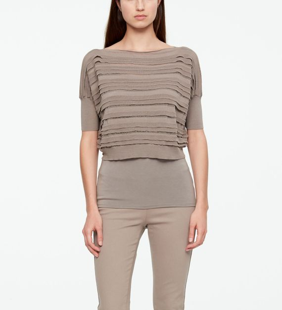 Sarah Pacini MAKO COTTON SWEATER - STRIPES