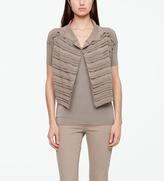 Sarah Pacini MAKO COTTON CARDIGAN - CROPPED