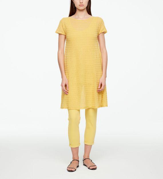 Sarah Pacini LINEN DRESS - STRIPED