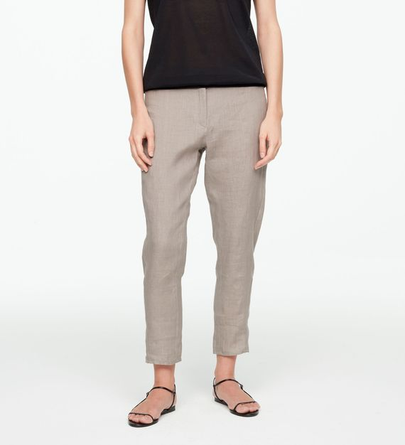 Sarah Pacini LINEN PANTS - TAPERED HEM