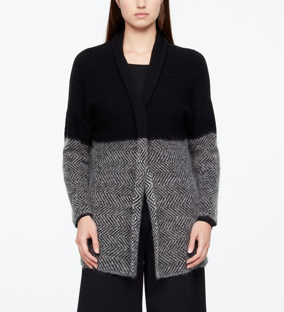 Sarah Pacini LONG CARDIGAN - CHEVRONS