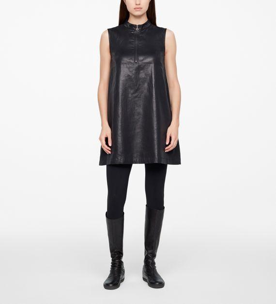 Sarah Pacini SLEEVELESS DRESS - LEATHER SHEEN