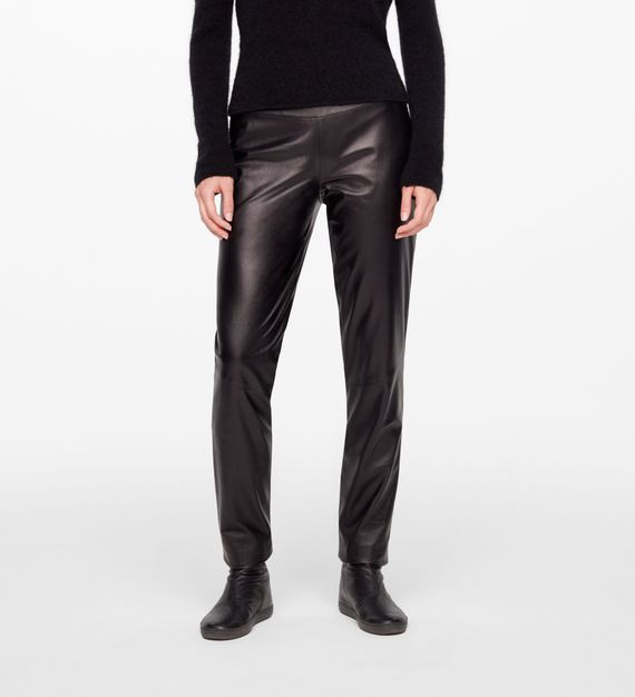 Sarah Pacini LEATHER PANTS